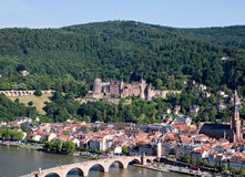 Panorama of Heidelberg Stock Photos