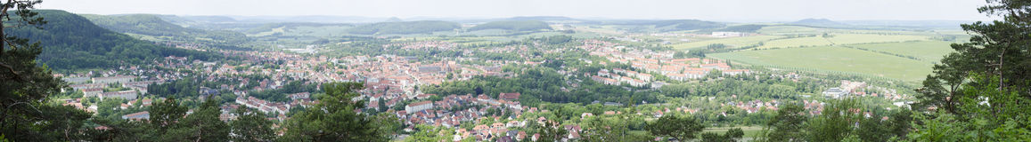 Panorama of Heilbad Heiligenstadt. In Thuringia, Germany royalty free stock image