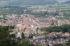 Panorama of Heilbad Heiligenstadt. In Thuringia, Germany royalty free stock photo