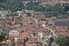 Panorama of Heilbad Heiligenstadt. In Thuringia, Germany royalty free stock photos