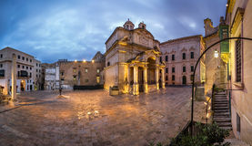 Panorama Heilige Catherine van de Kerk van Italië Stock Foto's