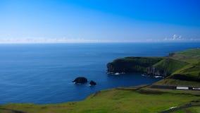 Panorama of Heimaey island, Vestmannaeyjar archipelago Iceland Stock Photography