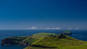 Panorama of Heimaey island, Vestmannaeyjar archipelago Iceland Stock Images