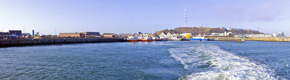 Panorama from Helgoland Germany Royalty Free Stock Images