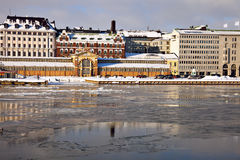 Panorama of Helsinki from Baltic Sea Royalty Free Stock Photo