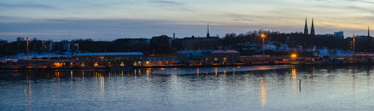Panorama Helsinki miasta schronienie fotografia royalty free