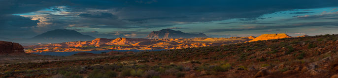 Panorama Henry Mountains, South Central Utah, United States. High quality panorama Glen Canyon National Park, Utah, United States View of the Henry Mountains Royalty Free Stock Images