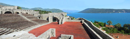 Panorama of Herceg Novi, Montenegro. Stock Photo