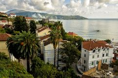 Panorama of Herceg Novi Royalty Free Stock Images