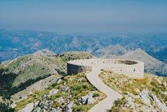 Panorama in herdenkingsnjegoå ¡ in Montenegro royalty-vrije stock foto's