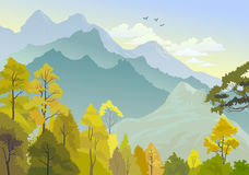 Panorama hermoso de colinas Himalayan libre illustration