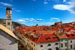 Panorama hermoso de Dubrovnik Imagen de archivo libre de regalías