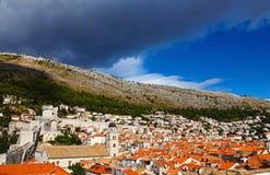 Panorama hermoso de Dubrovnik, Croacia fotografía de archivo