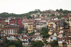 Panorama hermoso de la ciudad de Veliko Tarnovo Imagen de archivo