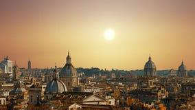 Panorama hermoso de la ciudad magnífica de Roma, Italia metrajes