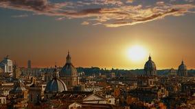 Panorama hermoso de la ciudad magn?fica de Roma, Italia almacen de video