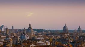 Panorama hermoso de la ciudad magn?fica de Roma, Italia almacen de metraje de vídeo