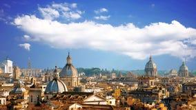 Panorama hermoso de la ciudad magn?fica de Roma, Italia metrajes