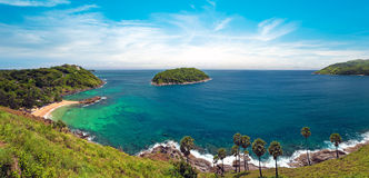 Panorama hermoso de la naturaleza de Tailandia, Phuket fotos de archivo