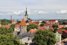Panorama hermoso de Tallin, Estonia Imagen de archivo
