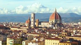 Panorama hermoso del Duomo en Florencia, Italia Timelapse almacen de metraje de vídeo