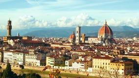 Panorama hermoso del Duomo en Florencia, Italia Timelapse almacen de video