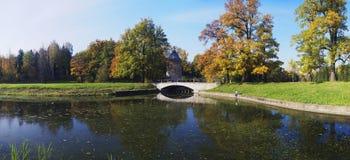 Panorama hermoso del otoño Imagen de archivo libre de regalías