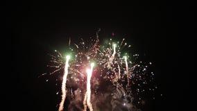 Panorama hermoso del saludo hermoso de la noche Demostración ligera almacen de metraje de vídeo