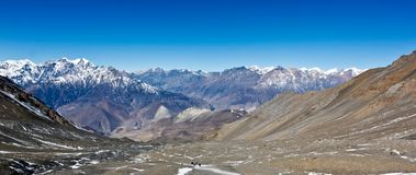 Panorama hermoso en Himalaya/Nepal fotos de archivo