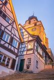 Panorama of Herrenberg, Germany. View of the so called Stiftskirchet, Herrenberg Royalty Free Stock Images