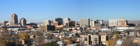 Panorama het Van de binnenstad van Albuquerque in Dag Stock Foto