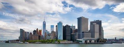 Panorama het van de binnenstad van Manhattan van de Stad van New York Stock Afbeelding