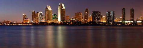 Panorama het van de binnenstad van San Diego Stock Foto