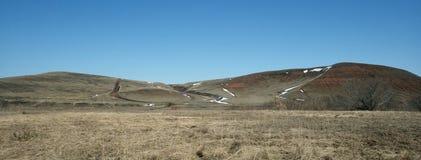 Panorama heuvelig terrein royalty-vrije stock foto's