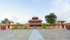 Panorama of Hien Lam Pavilion and 9 Dings Stock Photo