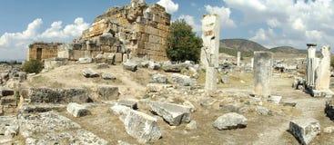 Panorama Hierapolis in Pamukkale Stock Image
