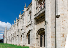 Panorama of Hieronymites Monastery in Belem, Lisbon, Portugal. Stock Photos