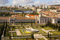 Panorama of Hieronymites Monastery is located in the Belem distr Stock Image