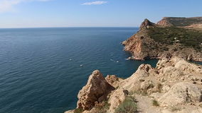 Panorama from a high cliff balaclava Crimea Royalty Free Stock Photography