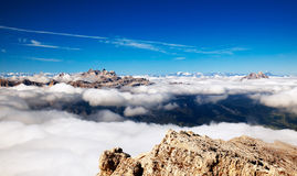 Panorama of high mountains - Alps Stock Photos