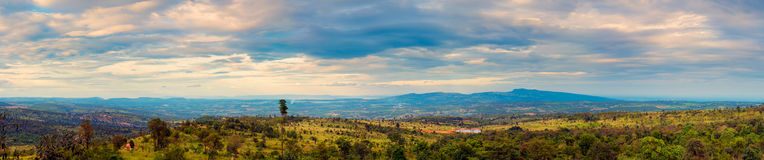 Panorama of high mountains in countryside of Thailand Stock Photos