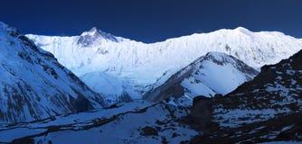 Panorama of high mountains Stock Photos