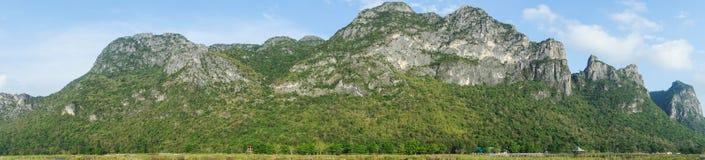 Panorama Mountains. Panorama  High mountains in Sam-Roi-Yot National park. Prachuap Khiri Khan Province. Thailand Stock Image