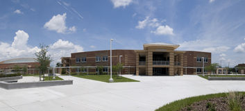 Panorama of High School in Florida Stock Images