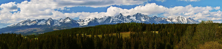 Panorama of High Tatras. Panoramic view of the High Tatras Royalty Free Stock Photo