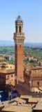 Panorama (HighRes) Glockenturms des Siena- lizenzfreies stockfoto