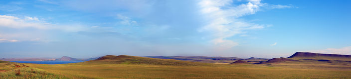 Panorama hill of Khakasia Royalty Free Stock Photo