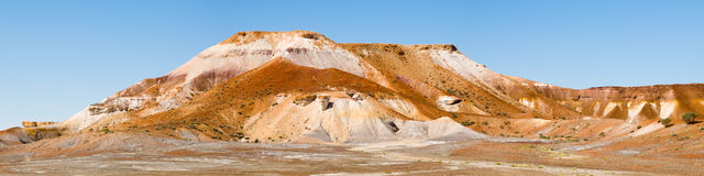 Panorama of Hill in Painted Desert, Australia Royalty Free Stock Photos