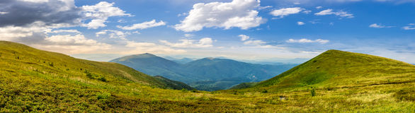 Panorama of hillside with stones in high mountains Stock Images