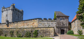 Panorama of the hilltop castle in Bad Benthiem. Germany Royalty Free Stock Photos